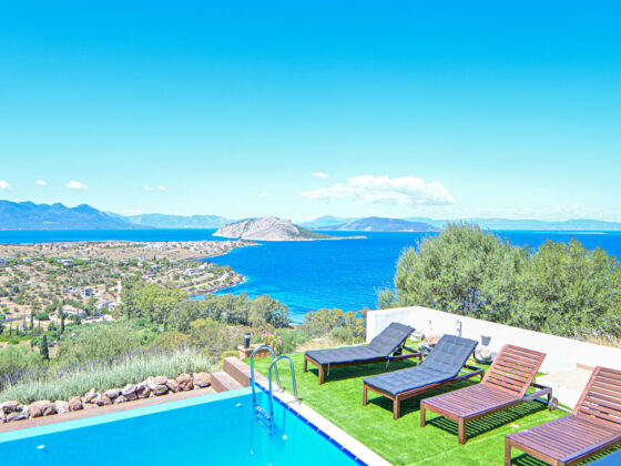 Aegina-Sunset-Villa- Cybele -Aegina-by-Upgreat-Hospitality-pool