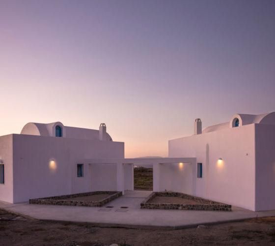 Villa-Cinderella-Santorini-by-UpGreat-Hospitality-exterior-sunset